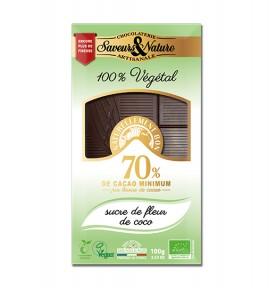 Tablette chocolat noir sucre de fleur de coco Vegan bio